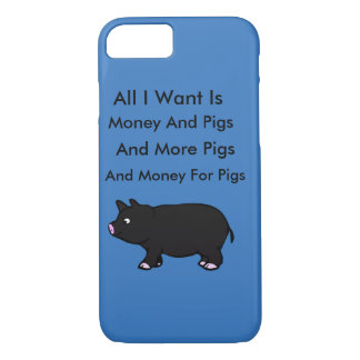Coque iPhone 8/7 Tout I Want est argent et des porcs