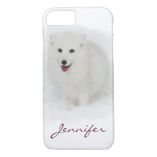 Coque iPhone 8/7 Toute la peinture blanche d'aquarelle de Fox