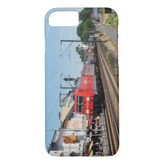 Coque iPhone 8/7 Train de marchandises dans la maison crue au Rhin