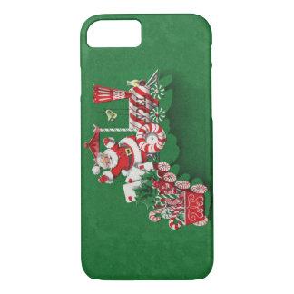 Coque iPhone 8/7 Train vintage de sucrerie de menthe poivrée du