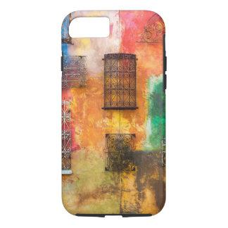 Coque iPhone 8/7 Travail urbain de fer, mur peint, délabrement chic