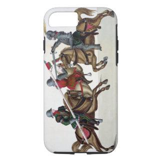 Coque iPhone 8/7 Trois chevaliers à un tournoi, plat 'd'un Histo
