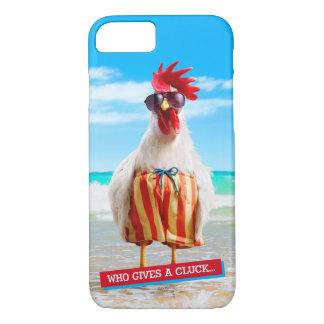 Coque iPhone 8/7 Type Chillin de coq à la plage dans des troncs de