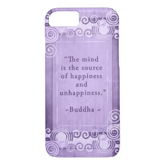 Coque iPhone 8/7 Typographie inspirée de citation de Bouddha