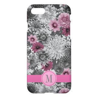 Coque iPhone 8/7 Un floral photographique rose et gris lumineux