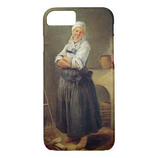 Coque iPhone 8/7 Un villageois de Saxon dans sa cuisine (huile sur