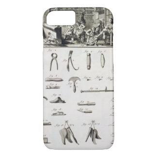 Coque iPhone 8/7 Une chaussure et un bottier et leurs outils, de la