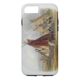 Coque iPhone 8/7 Une loge de peau d'un chef d'Assiniboin, plaquent