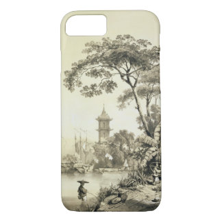 Coque iPhone 8/7 Une pagoda sur le canal de Macao-Canton, plaquent