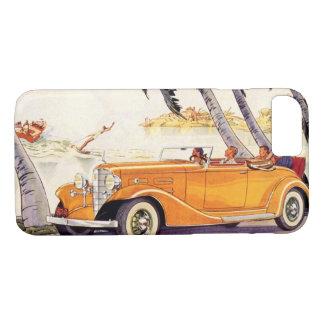 Coque iPhone 8/7 Vacances de famille vintages dans une voiture