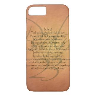 Coque iPhone 8/7 Vers chrétien de bible du psaume 23 KJV religieux