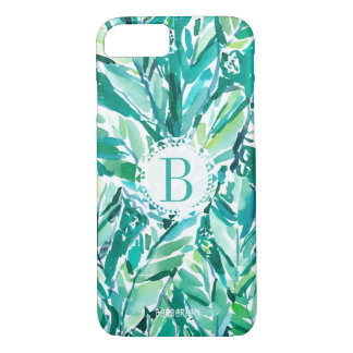 Coque iPhone 8/7 Vert de JUNGLE de FEUILLE de BANANE tropical