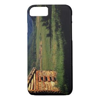 Coque iPhone 8/7 Vieille ferme de rondin près de Park City, Utah.
