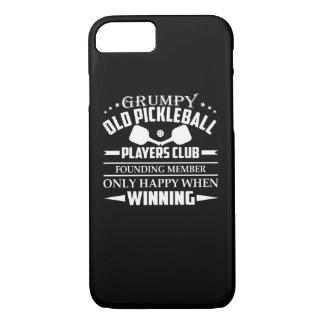 Coque iPhone 8/7 Vieux club grincheux de joueurs de Pickleball