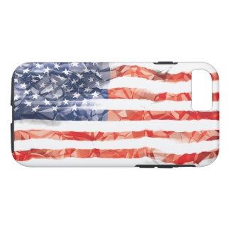 Coque iPhone 8/7 Vieux drapeau américain plissé