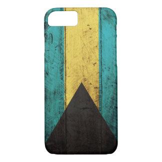 Coque iPhone 8/7 Vieux drapeau en bois des Bahamas