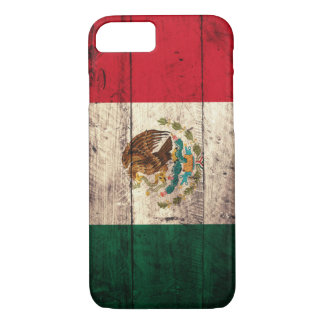 Coque iPhone 8/7 Vieux drapeau en bois du Mexique