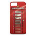 Coque iPhone 8/7 Ville britannique de l'iPhone rouge 8 de cabine de