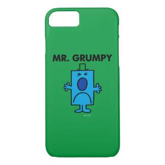 Coque iPhone 8/7 Visage de froncement de sourcils de M. Grumpy |