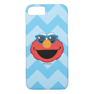 Coque iPhone 8/7 Visage de sourire d'Elmo avec des lunettes de