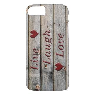 Coque iPhone 8/7 Vivent l'amour de rire du côté d'une grange