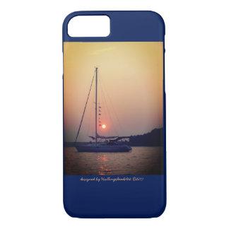 Coque iPhone 8/7 Voilier au cas du coucher du soleil iPhone7/iPad