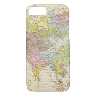 Coque iPhone 8/7 Volkerkarte von Asien - carte de l'Asie