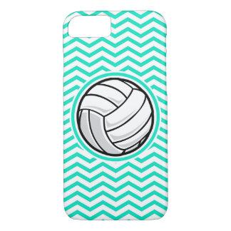 Coque iPhone 8/7 Volleyball ; Aqua Chevron vert