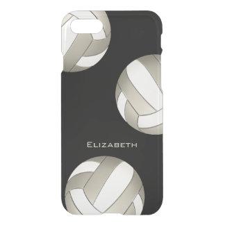 Coque iPhone 8/7 volleyball de platine et de femmes blanches