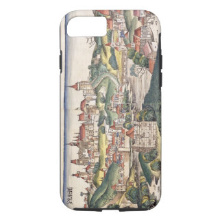 Coque iPhone 8/7 Vue d'oeil d'oiseau de Prague de Nuremberg Chron