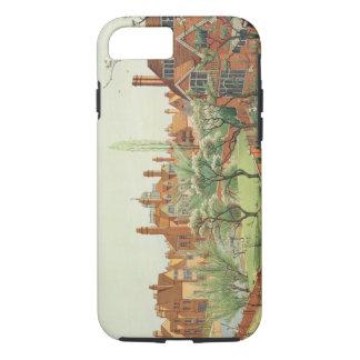 Coque iPhone 8/7 Vue du parc de Bedford, 1882 (litho de couleur) 2