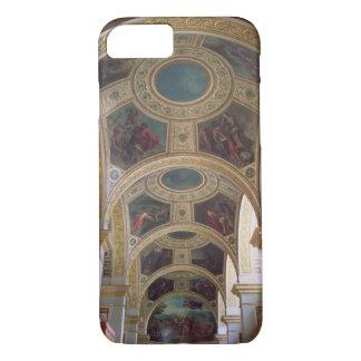 Coque iPhone 8/7 Vue du plafond coffered de bibliothèque avec s