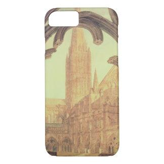 Coque iPhone 8/7 Vue du sud de cathédrale de Salisbury du Cloiste