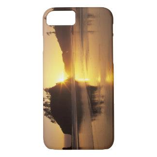 Coque iPhone 8/7 WA, NP olympique, deuxième plage au coucher du