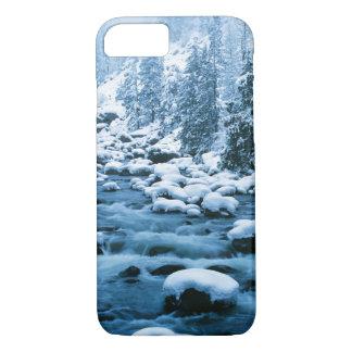 Coque iPhone 8/7 WA, réserve forestière de Wenatchee, cascade