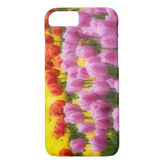 Coque iPhone 8/7 WA, vallée de Skagit, jardin de tulipe de