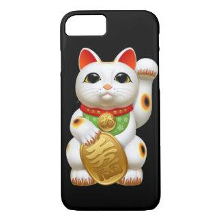 Coque iPhone 8/7 welc japonais de talisman de charme de chat