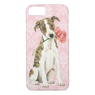 Coque iPhone 8/7 Whippet rose de Valentine