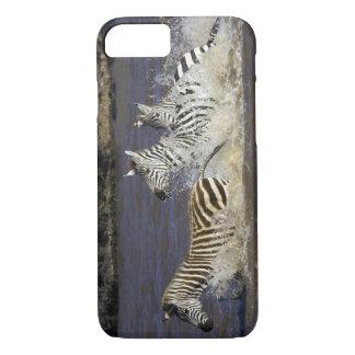 Coque iPhone 8/7 Zèbre de plaines (quagga d'Equus) fonctionnant