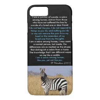 Coque iPhone 8/7 Zèbre parmi le cas de l'iPhone 7 de cheval