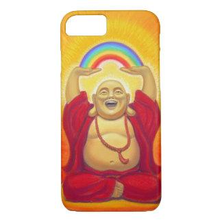 Coque iPhone 8/7 Zen chanceux riant le cas de l'iPhone 7 de Bouddha
