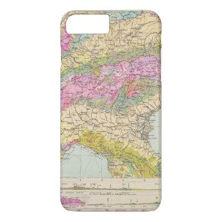 Coque iPhone 8 Plus/7 Plus Alpenlander - carte d'atlas des Alpes