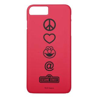 Coque iPhone 8 Plus/7 Plus Amour Elmo de paix