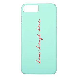 Coque iPhone 8 Plus/7 Plus Amour vivant de rire d'écriture rouge chic