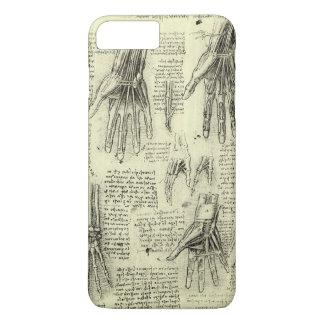 Coque iPhone 8 Plus/7 Plus Anatomie de la main humaine par Leonardo da Vinci