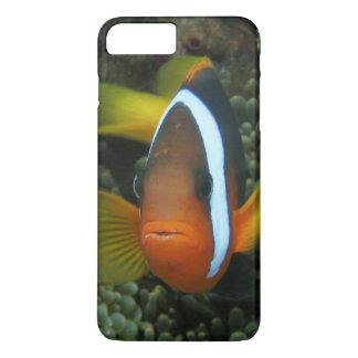 Coque iPhone 8 Plus/7 Plus Anemonefish noir (melanopus d'Amphiprion) dedans