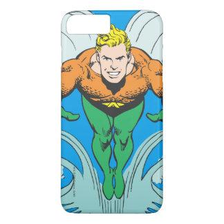 Coque iPhone 8 Plus/7 Plus Aquaman se précipitant en avant
