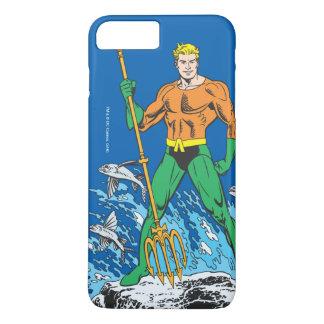 Coque iPhone 8 Plus/7 Plus Aquaman se tient avec la fourche