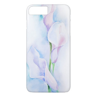 Coque iPhone 8 Plus/7 Plus aquarelle avec 3 callas