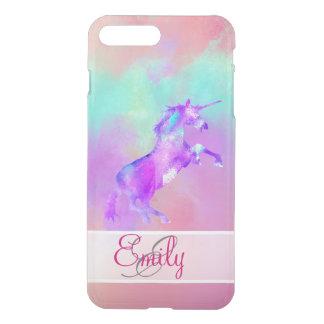 Coque iPhone 8 Plus/7 Plus Aquarelles pourpres turquoises roses mignonnes de